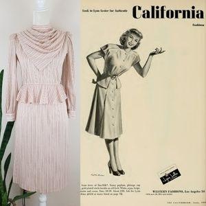 VTG 70's Joni Blair of California Blouse/Skirt Set